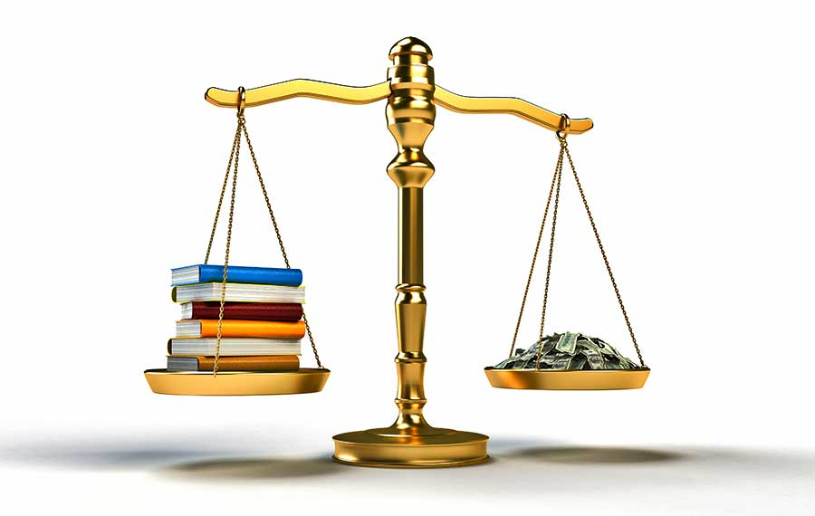 books scale money